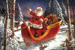 Ông già Noel và túi quà đầy ắp